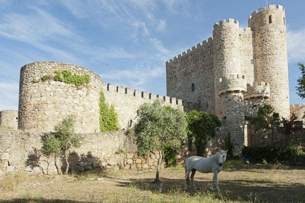 Zona exterior del Castillo de la Coracera