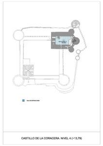 Plano del nivel 4 de la Torre del Homenaje del Castillo de la Coracera